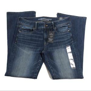 NWT American Eagle Kick Boot Jeans SHORT 1226